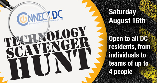 Technology Scavenger Hunt Promotional Flyer