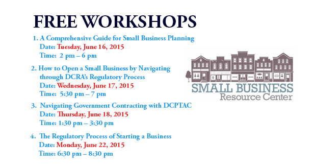 Small Business Resource Center - June 2015 Workshops