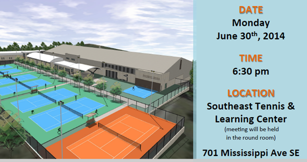 Southeast Tennis and Learning Center (SETLC) Community Meeting June 30, 2014
