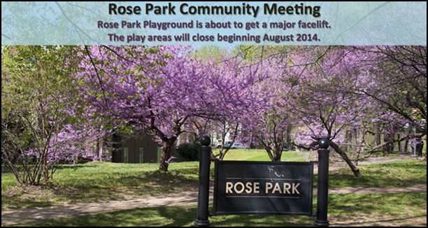 Rose Park and Playground Community Meeting July 23, 2014