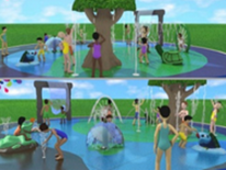 Lafayette Play DC Playground Project - New Splashpad - Raindrop Rendering 2