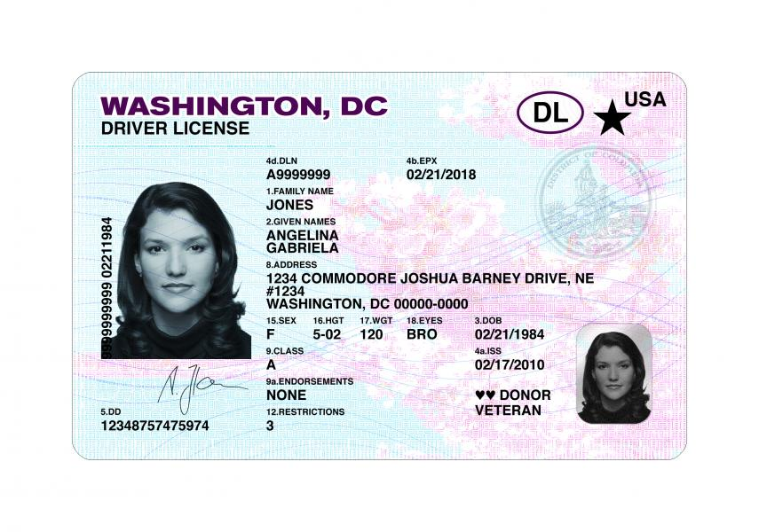 Dc Dmv Real Id Driver License Dmv