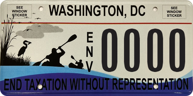DC DMV Anacostia River Commemorative License Tag
