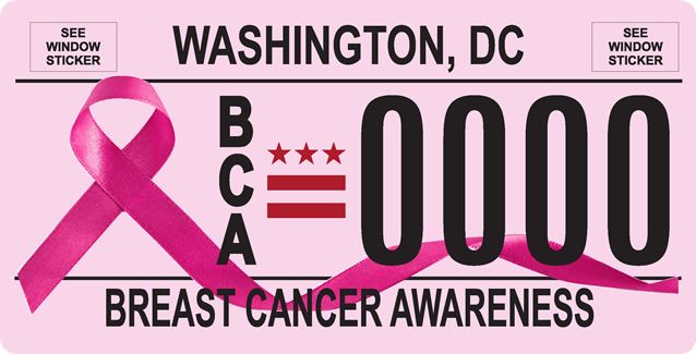 DC DMV Breast Cancer Awareness Tag