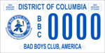 DC DMV Tag Bad Boys Club