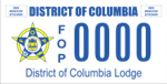 DC DMV Tag District of Columbia Lodge/FOP