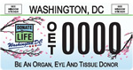 DC DMV Tag Donate Life