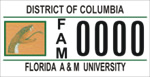 DC DMV Tag Florida A&M University