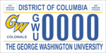 DC DMV Tag The George Washington University
