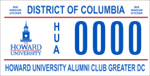 DC DMV Tag Howard University