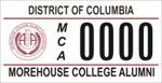 DC DMV Tag Morehouse College Alumni