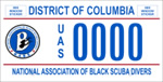 DC DMV Tag National Association of Black Scuba Divers