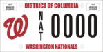 DC DMV Tag Washington Nationals