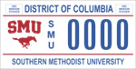 DC DMV Tag Southern Methodist University