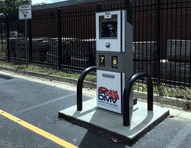 DC DMV Self-Service Vehicle Emissions Inspection Kiosk