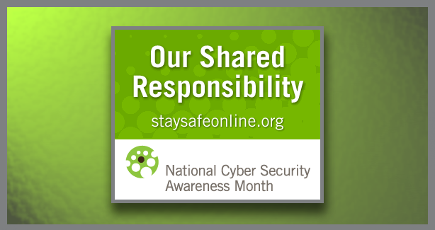 National Cyber Security Awareness Month Banner