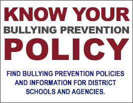 Know Your Bullying Prevention Policy Web Portal