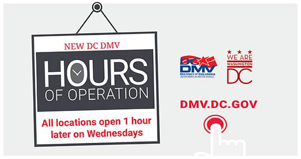 DC DMV Hours Shift on Wednesdays