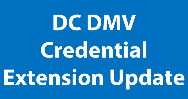 DC DMV Credential Extension Update